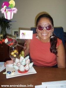 Maru celebrando su aniversario con nuestro Copas y Copas
